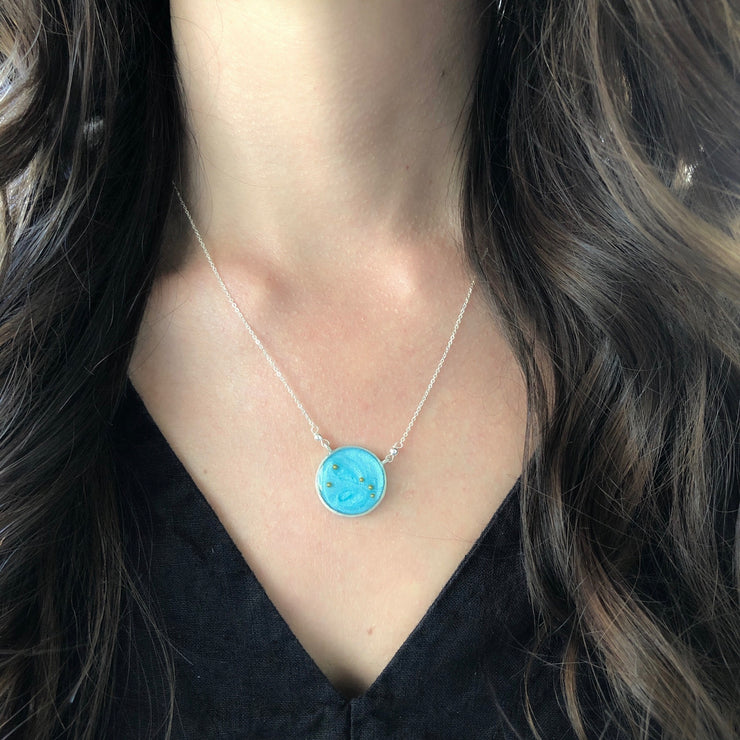 Aries Constellation Necklace Sky Blue
