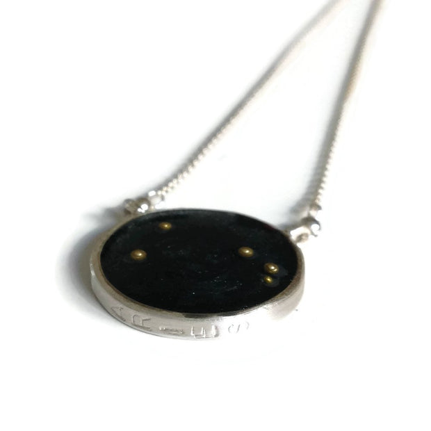 Aries Constellation Necklace Night Sky | Sterling Silver Aries Zodiac Necklace | Aries Necklace | Aries Gifts | Astrology Necklace