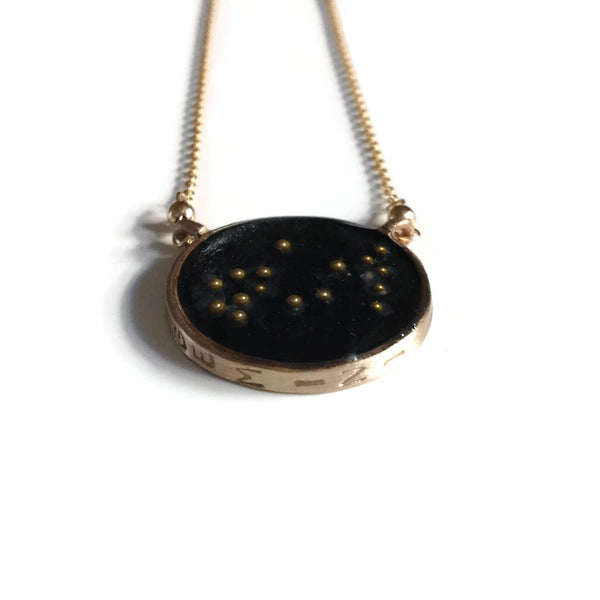 Gemini Constellation Necklace Night Sky | Gemini Zodiac Sign Necklace Gold | Gemini Necklace Gold | Gemini Gifts | Gemini Jewelry