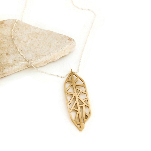 Aztec Feather Necklace