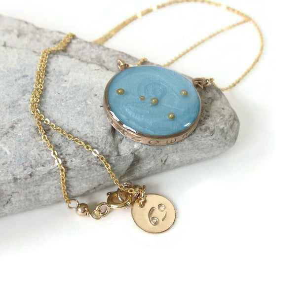 Gold Cancer Constellation Necklace | Cancer Zodiac Necklace | Cancer Zodiac Jewelry