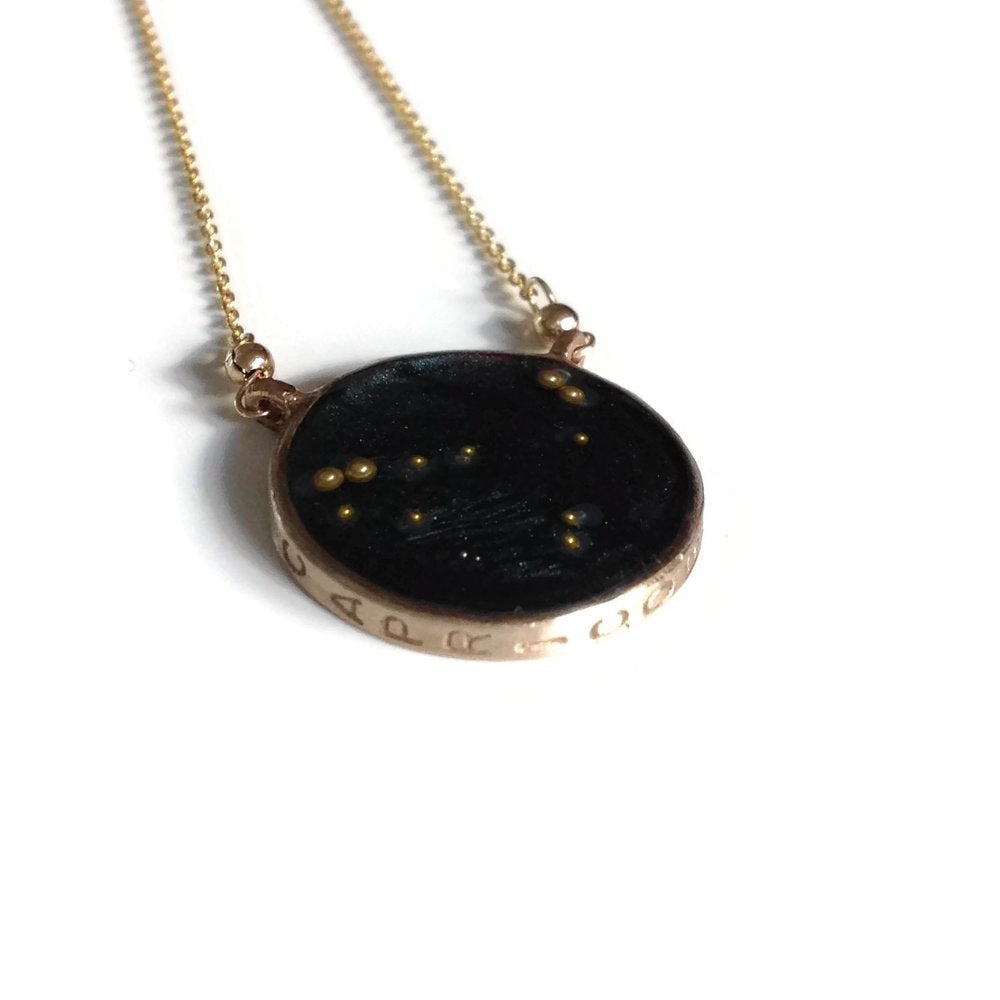Capricorn Constellation Necklace Night Sky | Capricorn Zodiac Necklace Gold | Capricorn Necklace | Astrology Sign Necklace | Capricorn Gifts