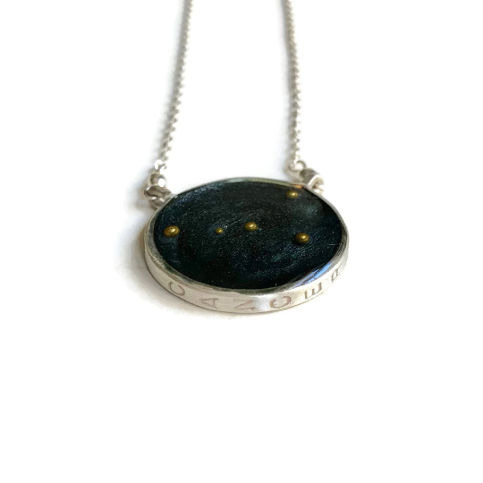 Cancer Constellation Necklace Night Sky