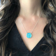 Capricorn Constellation Necklace Sky Blue