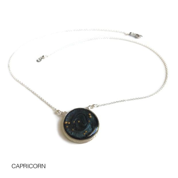 Capricorn Constellation Necklace Night Sky