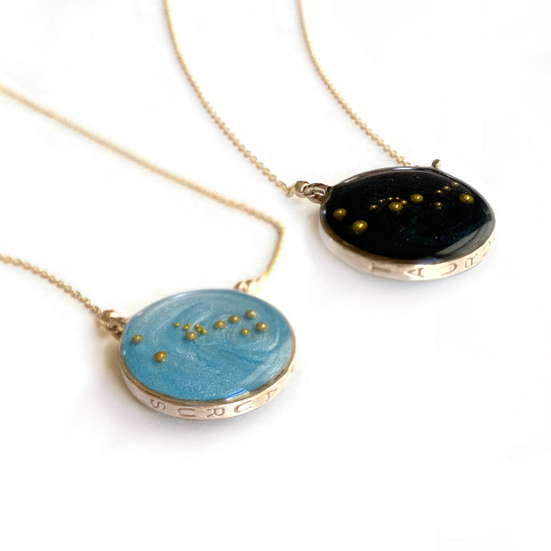 Double Sided Zodiac Constellation Necklace