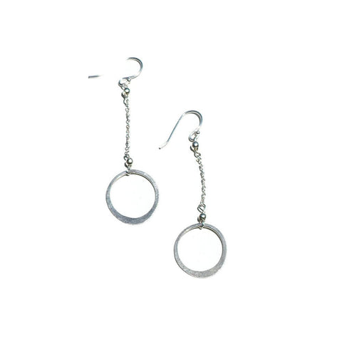 Elafri Open Circle Dangle Earrings