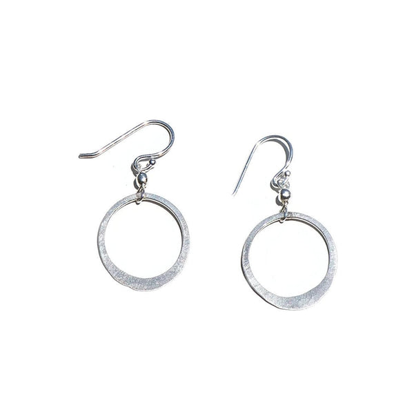 Elafri Open Circle Drop Earrings