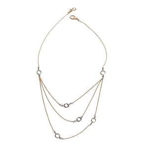 Elafri Petite Circle Necklace