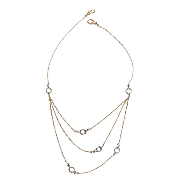 Elafri Multi Strand Small Circle Necklace