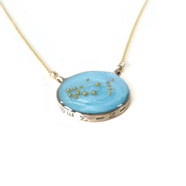 Gemini Constellation Necklace Sky Blue by Carla De La Cruz Jewelry | Gemini Zodiac Necklace Gold | Gemini Necklace | Gemini Gifts | Gemini Jewelry | Astrology Necklace