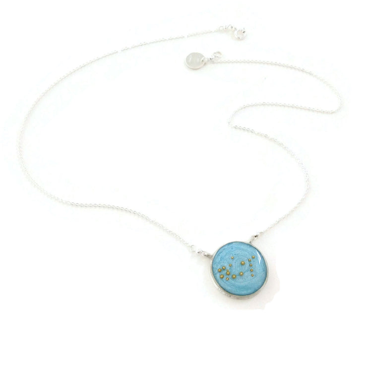 Gemini Constellation Necklace Sky Blue