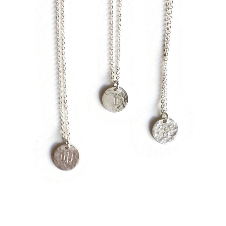 Zodiac Charm Necklace Silver