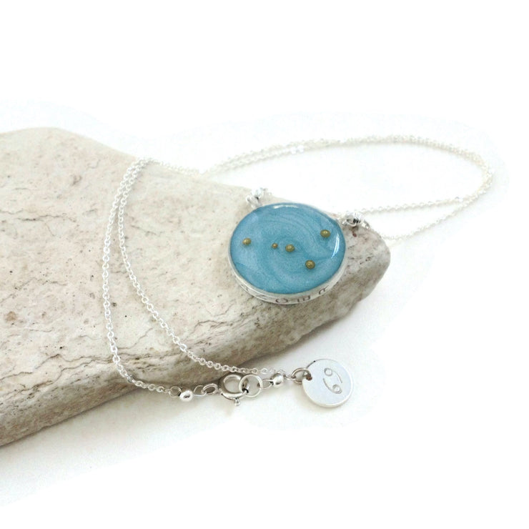 Cancer Constellation Necklace | Silver Cancer Zodiac Necklace | Cancer Zodiac Jewelry