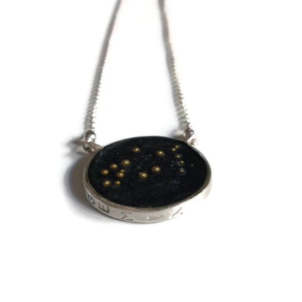 Gemini Constellation Necklace Night Sky