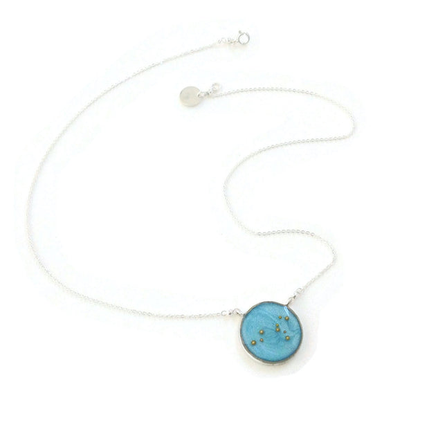 Leo Constellation Necklace Sky Blue