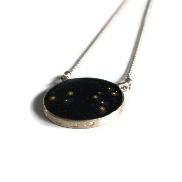 Leo Constellation Necklace Night Sky