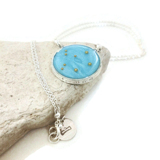 Libra Constellation Necklace | Libra Zodiac Necklace Sterling Silver | Libra Gifts