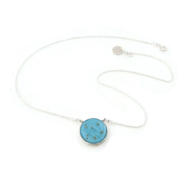 Libra Constellation Necklace Sky Blue
