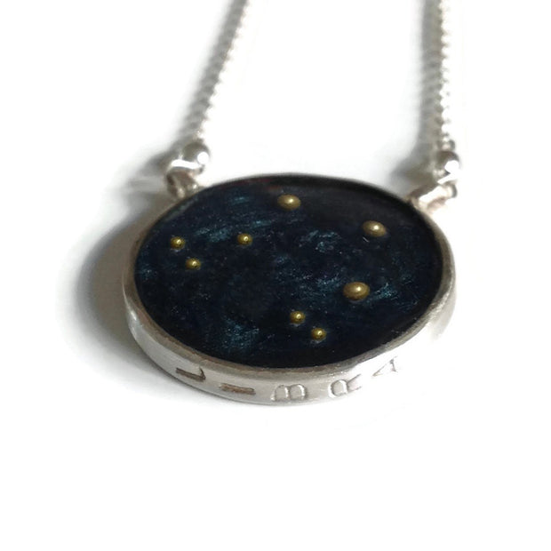 Libra Constellation Necklace Night Sky