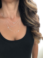Silver Multi Strand Necklace | Carla De La Cruz Jewelry