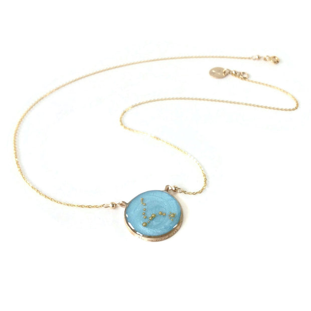 Gold Pisces Necklace | Sterling Silver Pisces Constellation Necklace
