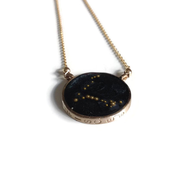 Pisces Constellation Necklace Night Sky | Pisces Zodiac Necklace Gold | Pisces Necklace | Zodiac Sign Jewelry | Pisces Gifts