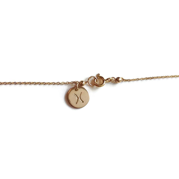 Pisces Zodiac Charm Gold Filled