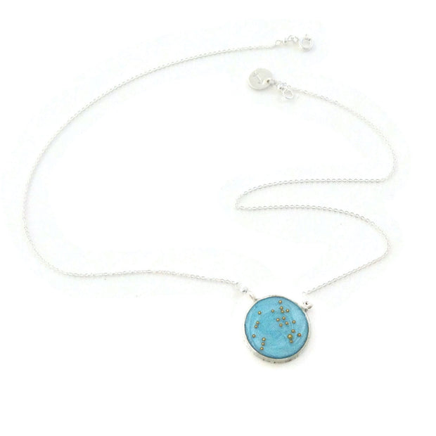 Sagittarius Constellation Necklace Sky Blue