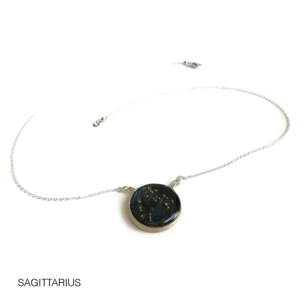 Sagittarius Constellation Necklace Night Sky