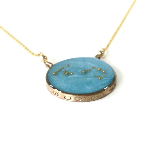 Gold Scorpio Constellation Necklace | Sterling Silver Scorpio Necklace | Scorpio Jewelry