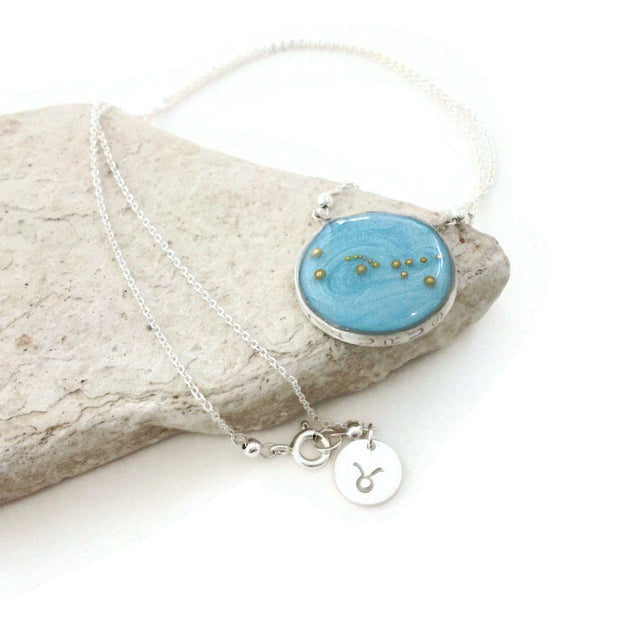 Taurus Constellation Necklace | Silver Taurus Necklace | Taurus Gifts