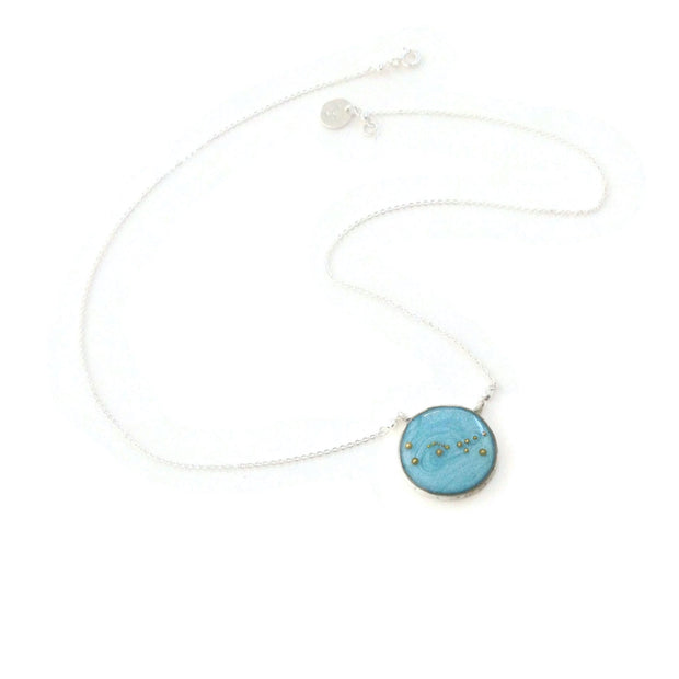 Taurus Constellation Necklace Sky Blue