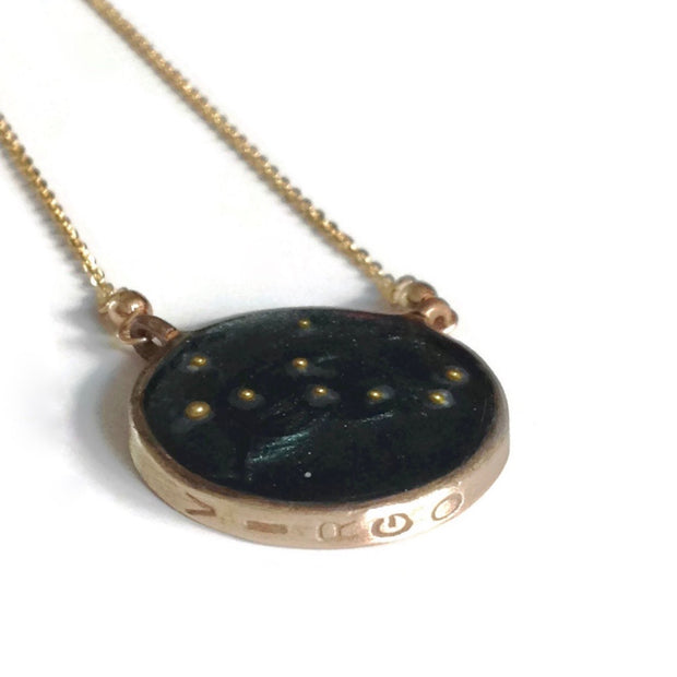 Virgo Constellation Necklace Night Sky | Gold Virgo Necklace | Virgo Gifts | Virgo Jewelry | Virgo Zodiac Necklace