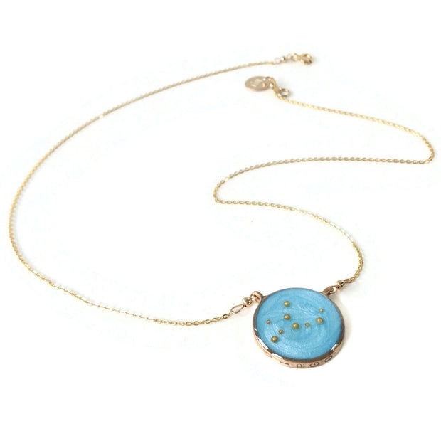 Gold Virgo Constellation Necklace | Virgo Zodiac Necklace | Virgo Jewelry