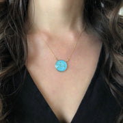 Virgo Constellation Necklace Sky Blue