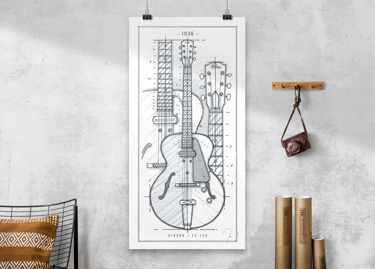 Poster / Gibson ES-150 / 1936