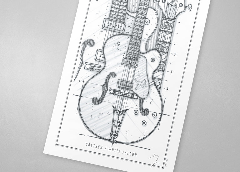 Poster / Gretsch White Falcon / 1962