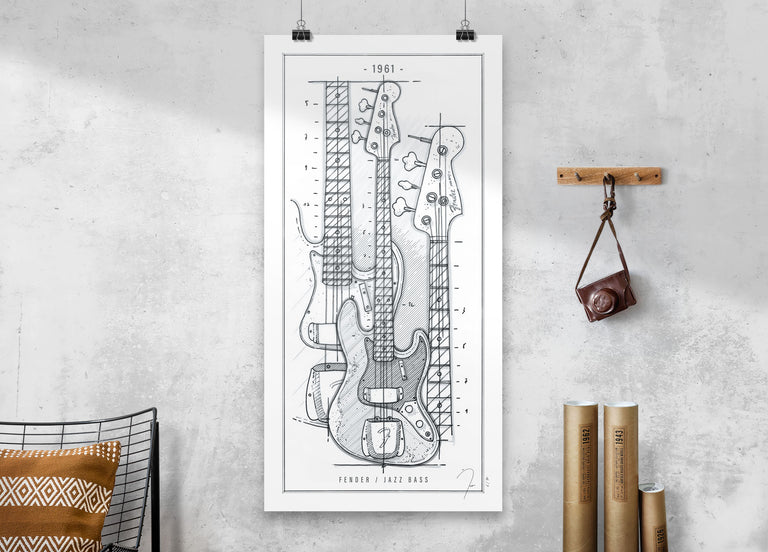 Poster / Fender Jazz Bass / 1961