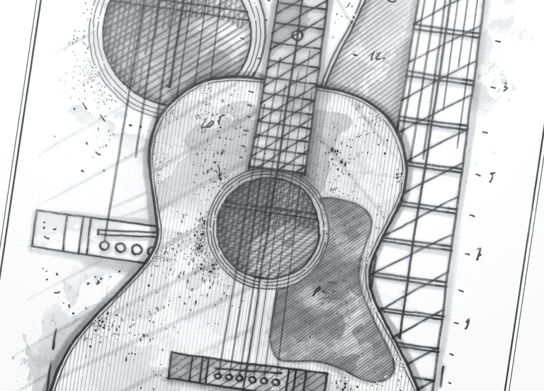Poster French Curves / Blind Guitars B-26