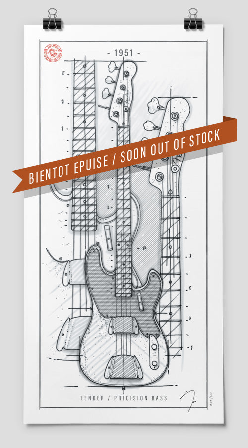 Poster / Fender Precision Bass / 1951