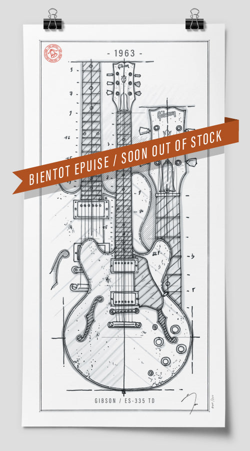 Poster / Gibson ES-335 / 1963