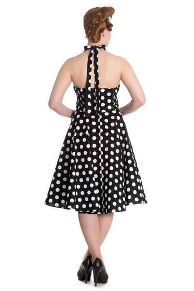 Mariam Polka Dot Dress in Black