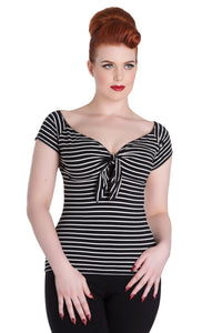 Hannah Striped Retro Top