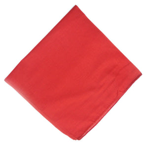 Red Solid Bandana