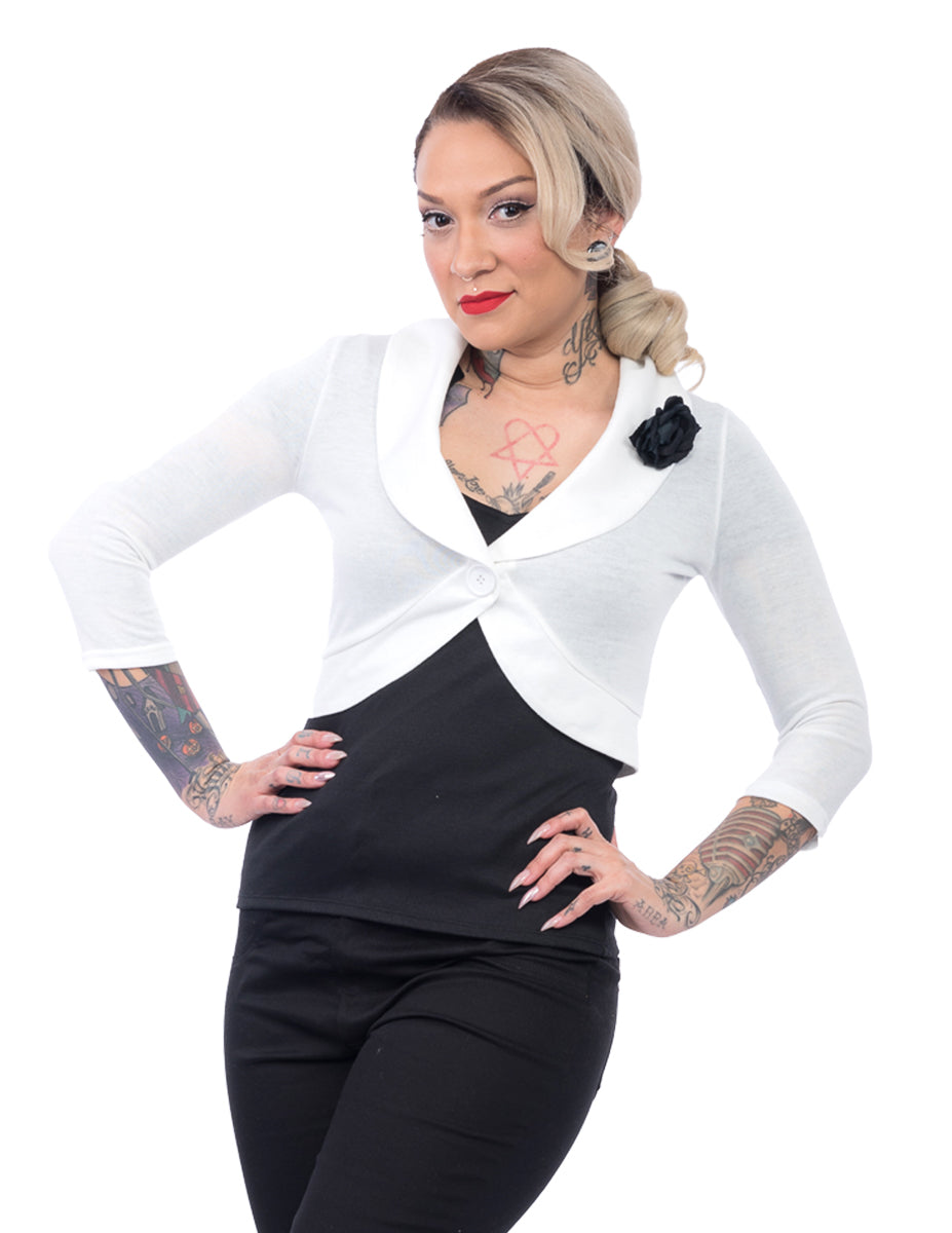 Marilyn Rose Sweater in Ivory