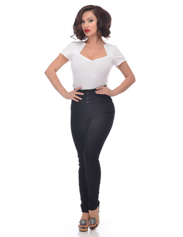 High Waist Pants in Black