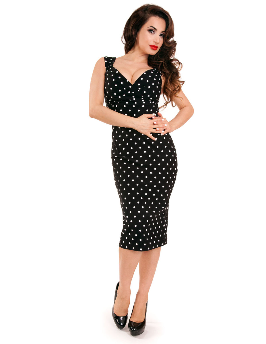 Polka Dot Diva Dress in Black