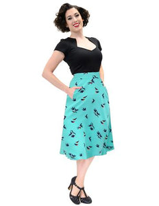 Birdie Thrills Skirt in Mint