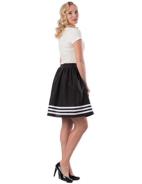 High Tide Gathered Skirt in Black